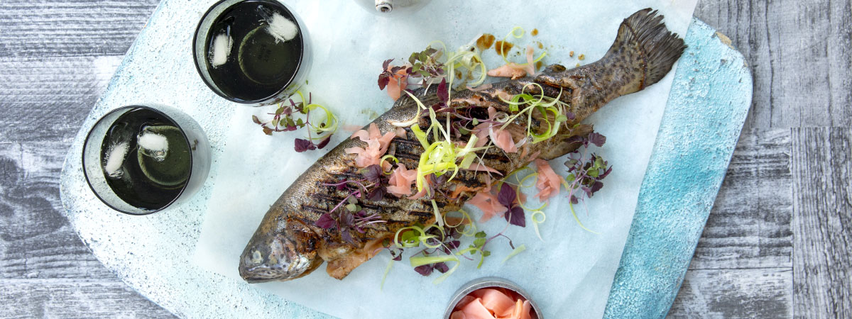 Japanese Marinated Trout With Ginger